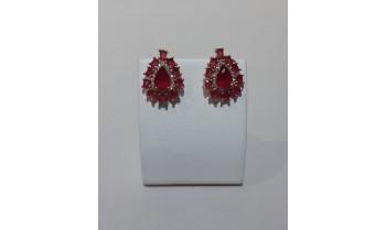 Pendientes plata rosé con granates y circonitas 225_PPBR34568