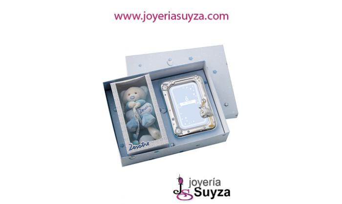 Set de peluche y portafotos en plata 58546/04R