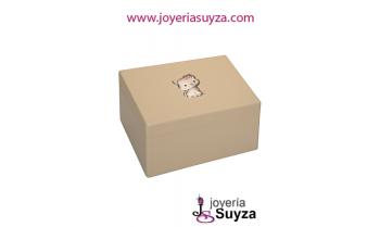 Joyero madera gato plata 4CX-DH0005.6BR
