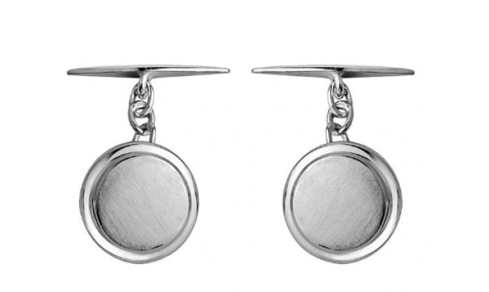 Gemelos en plata redondos 1MO-BA008A