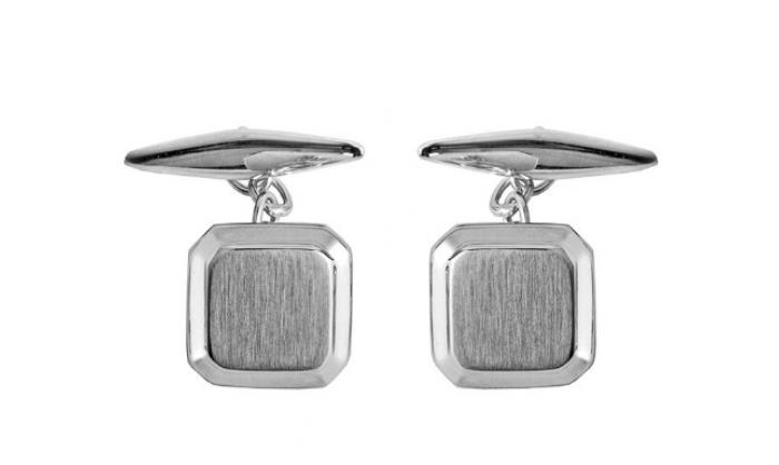 Gemelos en plata cuadrados 1MO-BA003A