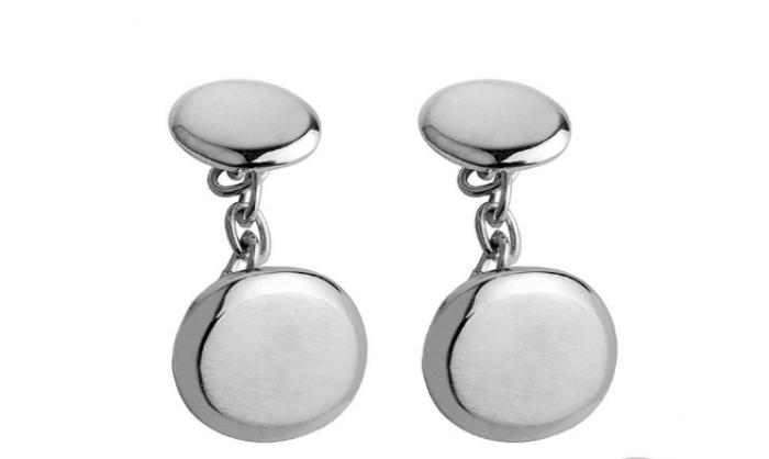 Gemelos en plata redondos 1MO-BA010