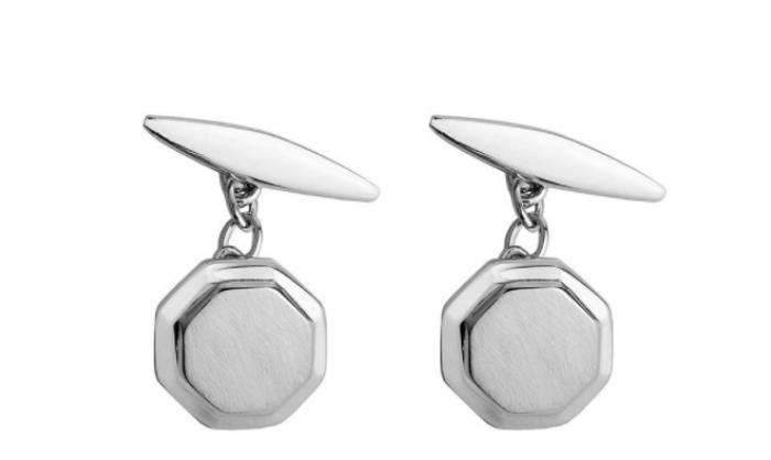 Gemelos en plata hexagonales 1MO-BA022