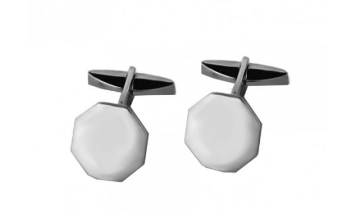 Gemelos en plata octogonales 1MO-VZ0018