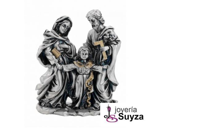 Figura en plata y oro de la Sagrada Familia 4BI-LE080130