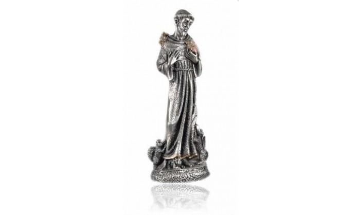 Figura en plata y oro de S.Francisco de Asís 4BI-LE081017