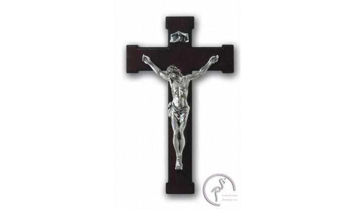 Cruz de madera con Cristo en plata 4CR-VLR17820
