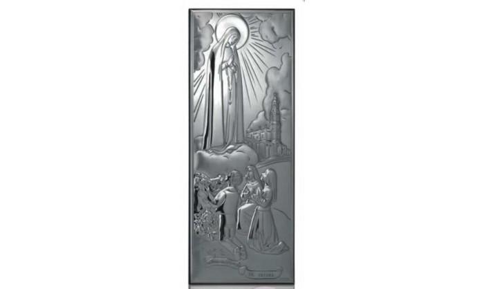 Cuadro en plata Aparición de la Virgen de Fátima 4QD-DHM0003A.3