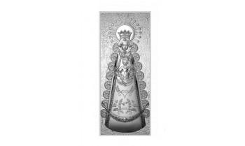 Cuadro de la Virgen del Rocío en plata 4QD-DHM0004.1P