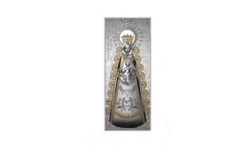 Cuadro de la Virgen del Rocío en plata 4QD-DHM0004.1