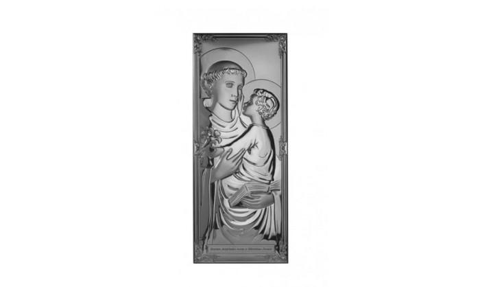 Cuadro en plata de S. Antonio 4QD-DHM0005.1