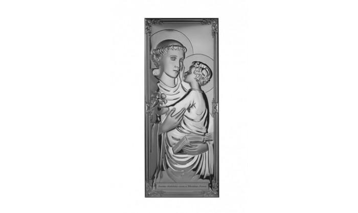 Cuadro en plata de S. Antonio 4QD-DHM0005.2
