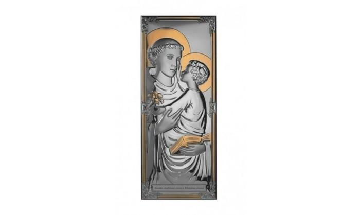 Cuadro en plata de S. Antonio 4QD-DHM0005.2P