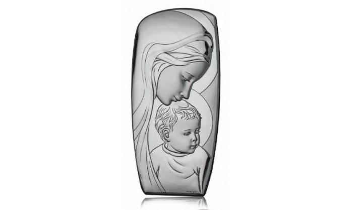 Cuadro Virgen con niño Jesús en plata 4QD-DHM0006.4