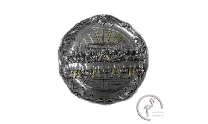 Plato en plata con la representación Última cena de Cristo 4QD-LE080125