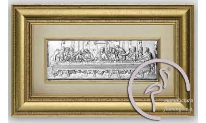 Cuadro representación Última cena de Cristo en plata 4QD-VL1278.1ORO