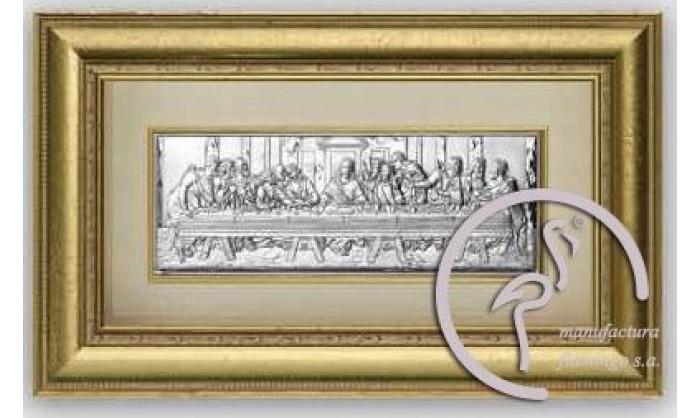 Cuadro representación Última cena de Cristo en plata 4QD-VL1278.2ORO