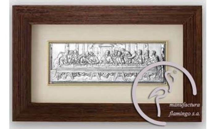 Cuadro representación Última cena de Cristo en plata 4QD-VL1279.1L