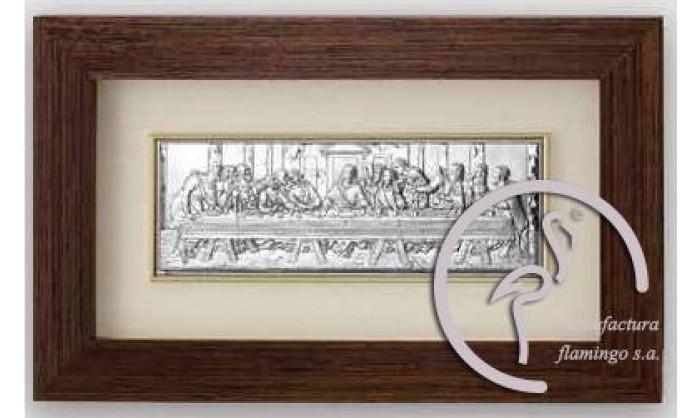 Cuadro representación Última cena de Cristo en plata 4QD-VL1279.2L