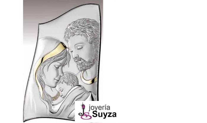 Cuadro Sagrada Familia en plata 4QD-VL18012.5LORO