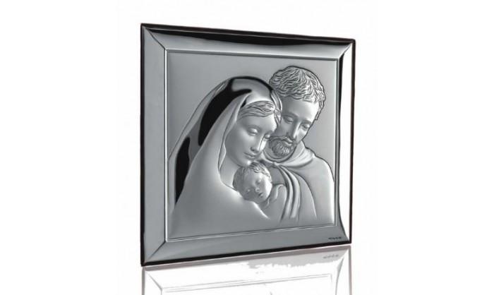 Cuadro Sagrada Familia en plata 4QD-VL739.6