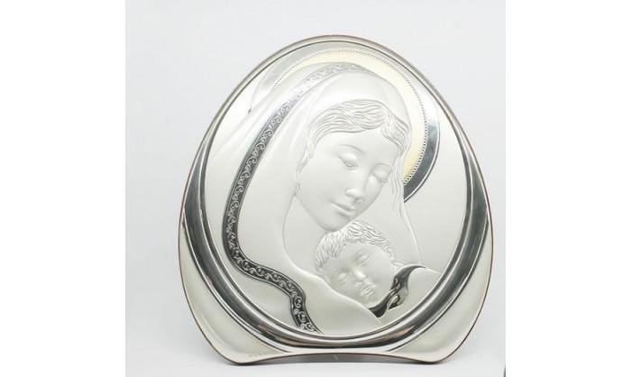 Cuadro Virgen con niño Jesús en plata 4QD-VL8003.4
