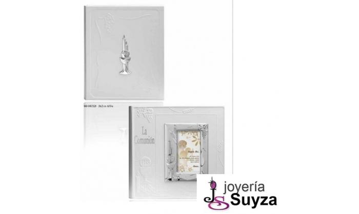 Pack Album y marco de plata caliz y cirios 4AB-DH025530