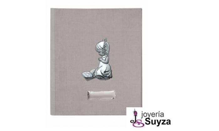 Álbum con biblia y niña de plata 20x25 cm 4AB-DHFL0039B-MNA