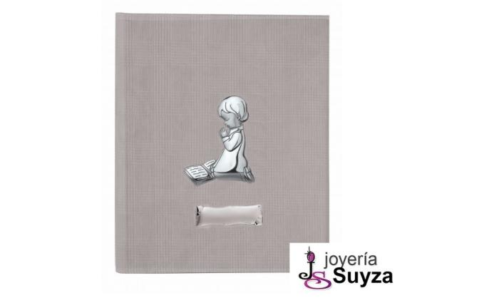 Álbum con biblia y niño de plata 20x25 cm 4AB-DHFL0039B-MNO