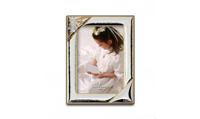 Marco plata Pierre Cardin con detalles en dorado comunión 4PC5324.2