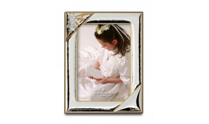 Marco plata Pierre Cardin con detalles en dorado comunión 4PC5324.3