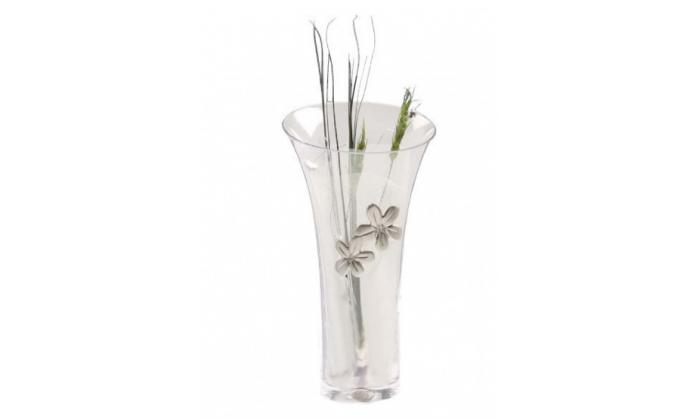 Jarrón con flores y alianzas plata 4PC0503.1