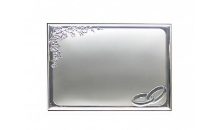 Placa conmemorativa Boda en plata 4PC5295.10