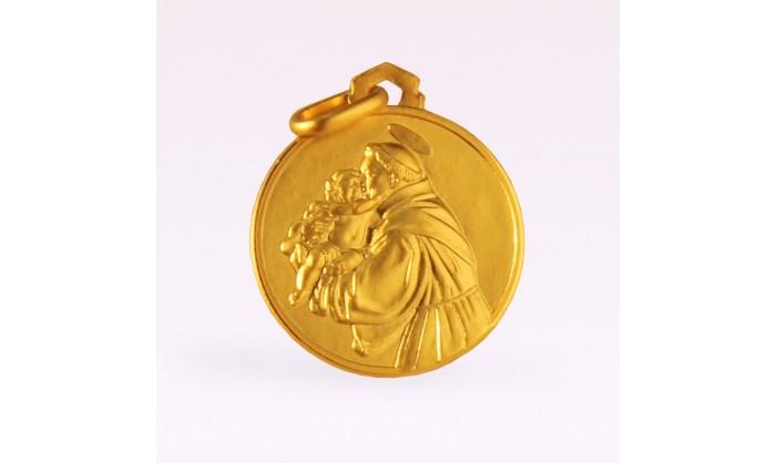 Medalla oro amarillo S Antonio