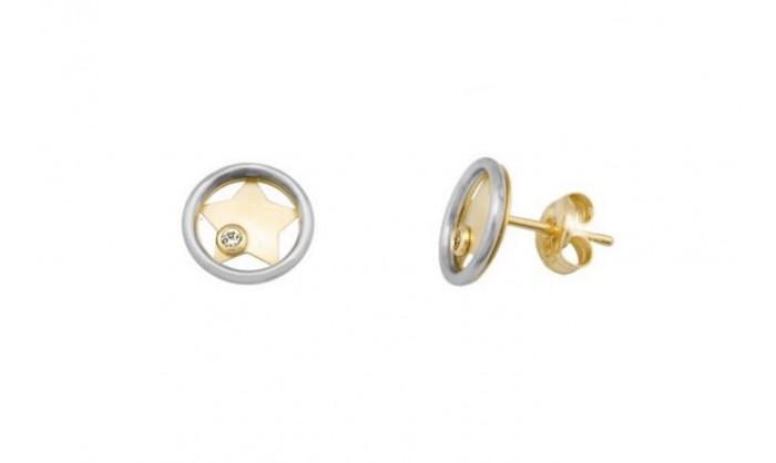 Pendientes circular con estrella en oro 212_55768-P/X/CI