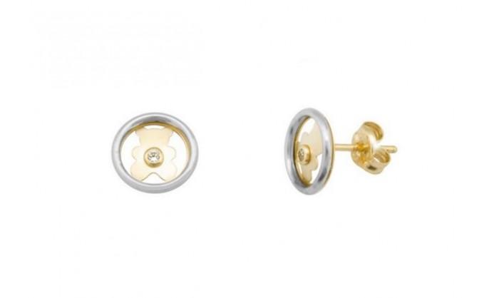 Pendientes circular con oso en oro 212_55769-P/X/CI