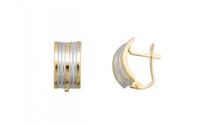 Pendientes bandas gallón en Oro 212_55821-P/X