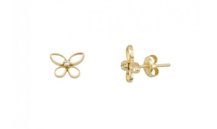 Pendientes mariposa en oro con garra 212_55829-P/A/CI