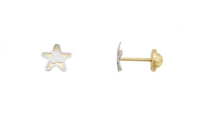 Pendientes estrella en Oro 18 Kl  212_55834-P/X