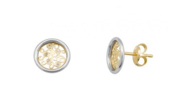 Pendientes redondos caracolas en Oro  212_55836-P/X/CI