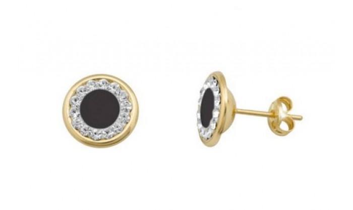 Pendientes redondos en Oro con circonitas  212_55847-P/A/OX