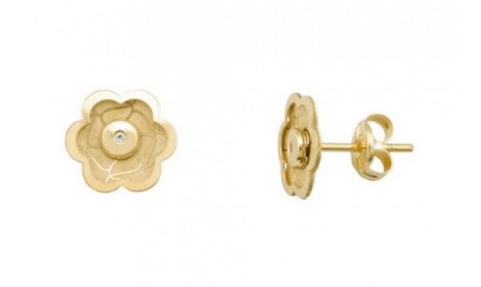 Pendientes flor en Oro 18 Kl  212_55875-P/A/CI
