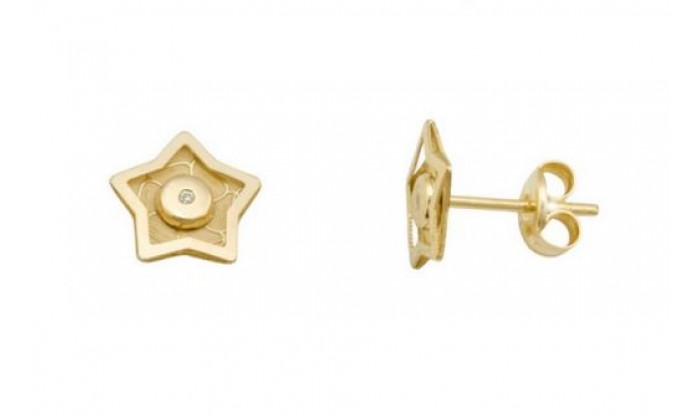 Pendientes estrella en Oro 18 Kl  212_55876-P/A/CI