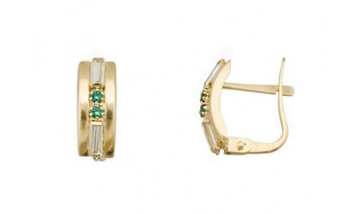 Pendientes 2 bandas en Oro con circonitas 212_55886-P/A/ES-CI