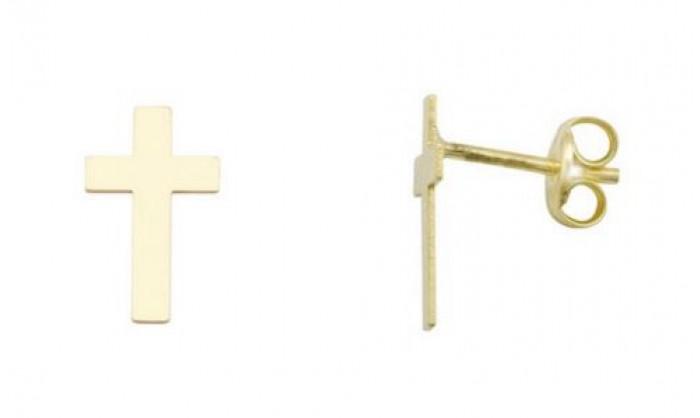 Pendientes cruz en Oro 212_55892-P/A