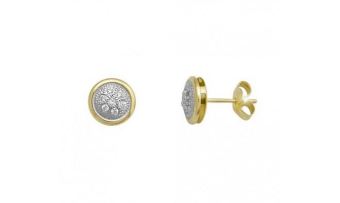 Pendientes redondos en Oro con circonitas 212_55903-P/X/CI