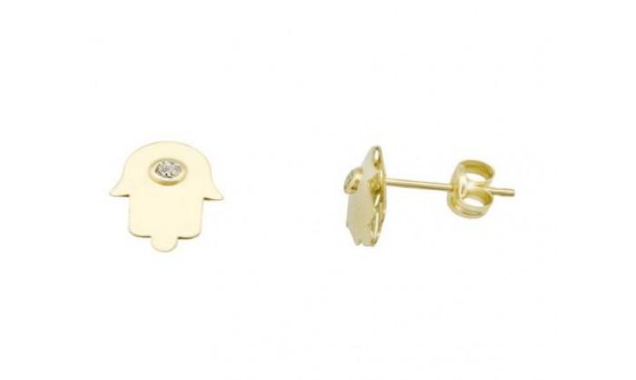Pendientes mano en Oro con circonita 212_55908-P/A/CI