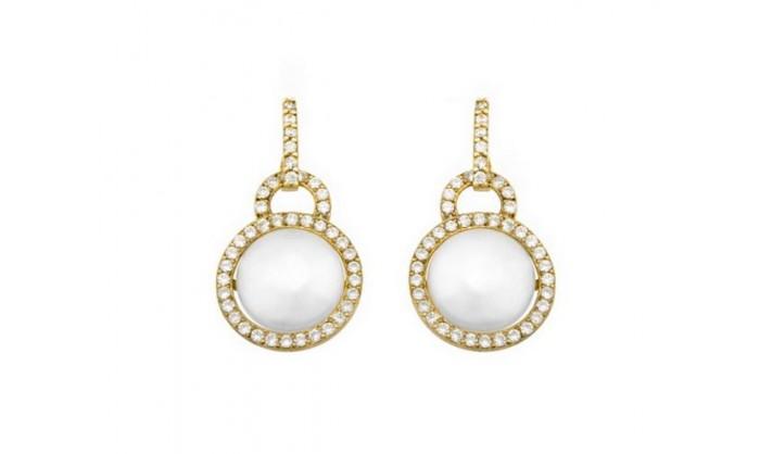Pendientes circulares con perla en oro 212_53431-P/A/PE-CI