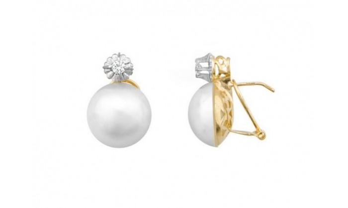 Pendientes en oro con perla japonesa  212_5430-P