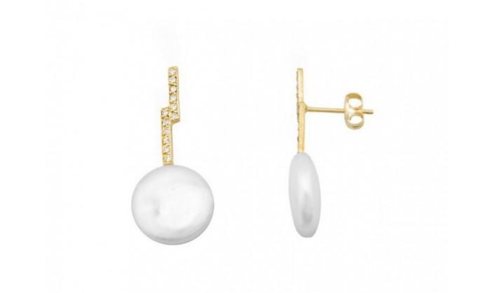 Pendientes en oro con perla 212_54553-P/A/PE-CI